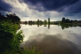 Rybník Hlíza navečer - srpen 2012