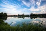 Rybník Hlíza ráno- srpen 2012
